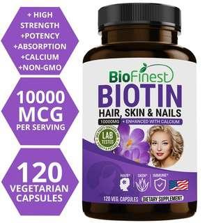 Biofinest Biotin 10000mcg with Calcium Vitamin Supplement
