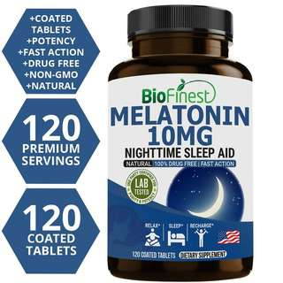 Biofinest Melatonin 10mg Supplement Fast Natural Sleep Aid