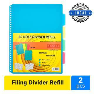 Alfax DR304 4colour PP Divider Refill with 30holes 0.2mm