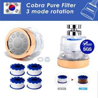 KRAFTER 360Cobra Pure Filter Faucet V4 Tap ROSEGOLD Set