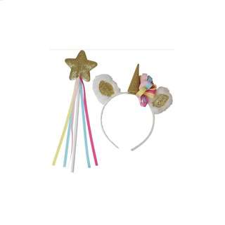 IG Design Group Party Unicorn Headband & Wand