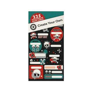 IG Design Group Create Your Own Name Labels - Skull