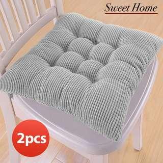 Sweet Home Flannel Soft Seat Cushion Chair Pad - Grey