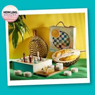 Mdm Ling Mao Shan Wang Durian Snowskin Mooncake (S&L Tin)