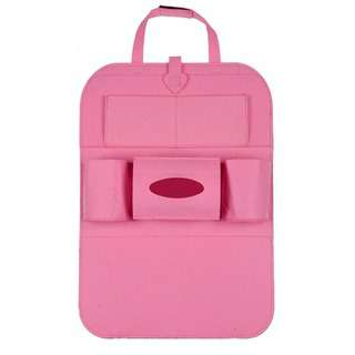 No Brand Basic A Pink car seat organiser