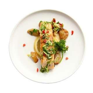 Meals In Minutes Spicy Cilantro Honey Salmon