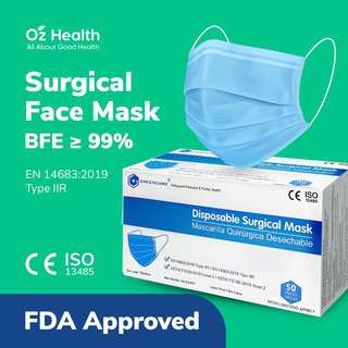 Greencare Disposable Surgical Face Mask BFE99% (FDA Approved