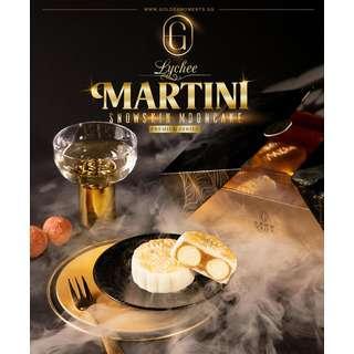 Golden Moments Lychee Martini Snowskin Mooncake