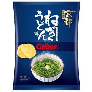 Calbee Green Onion Udon Potato Chips