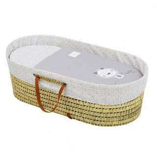 Cambrass Moses Basket Be - Lion Grey