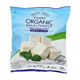 Right Moo Frozen Organic Malai Paneer Indian Cottage Cheese