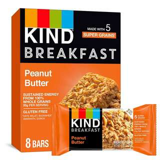 KIND Gluten Free Breakfast Bars Peanut Butter - 8 Bars