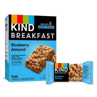 KIND Gluten Free Breakfast Bars Blueberry Almond - 8 Bars