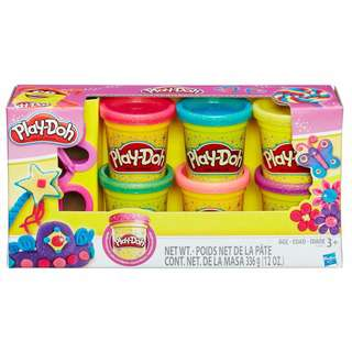 Play-Doh Sparkle 6-Pack of Glitter