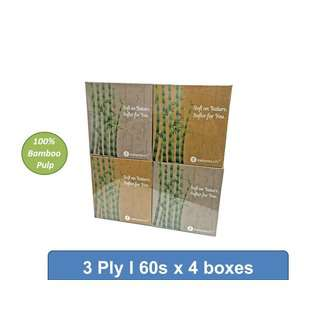 Naturesoft Bamboo Pure Pulp 3Ply Cubebox Tissue