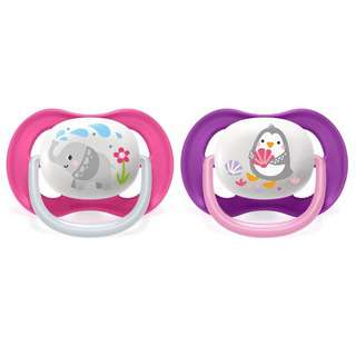 Philips Avent BPA-Free Ultra Air Silicone Soother 6-18M