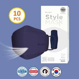 Bluna BFE 99.9% 3D Navy Colour Style Adult Face Mask