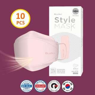 Bluna BFE 99.9% 3D Rose Colour Style Adult Face Masks