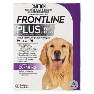 Frontline Plus for Large Dogs (20-40kg)