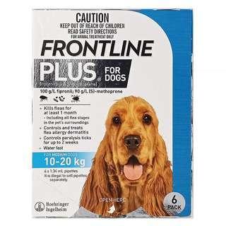 Frontline Plus for Medium Dogs (10-20kg)