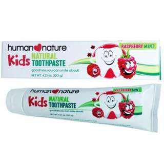 Human Nature All-Natural Kids Toothpaste
