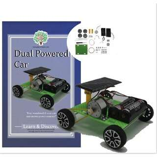 Play N Learn Self Assembly Solar and Battery Dual Powered Car