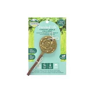 Oxbow (Enriched Life) Natural Chews (Timothy Apple Lollipop)
