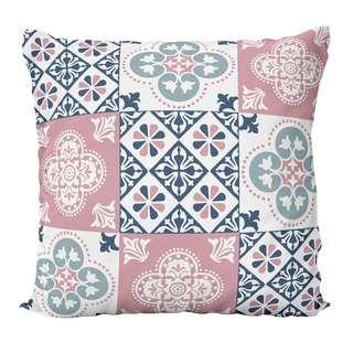 HOUZE LIV Peranakan Cushion Cover - Pink B