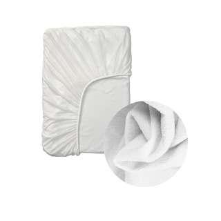 Lovihome Waterproof Mattress Protector Bedsheet - Queen White
