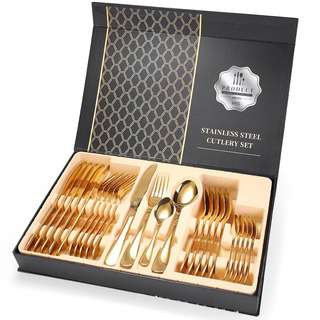 No Brand Gold spoon fork Cutlery Sets Stainless Steel