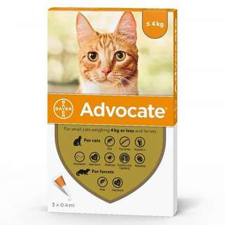Advocate Spot-on Solution for Small Cats (4kg and Below)