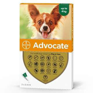 Advocate Spot-on Solution for Small Dogs (4kg and Below)