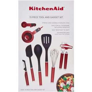 KitchenAid 15pcs Tools n Gadet Set Red