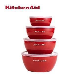 KitchenAid 4pcs Prepare Bowls Empire Red