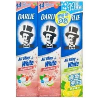 Darlie All Shiny White Apple Mint 2 x 140G + 90G