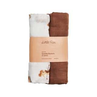 Little Rei Bamboo Muslin Swaddle Blanket