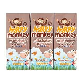 Happy Monkey Chocolate Milkshakes with British Milk