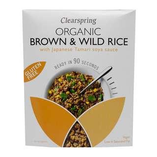 Clearspring Organic  Brown & Wild Rice with Tamari Soya Sauce
