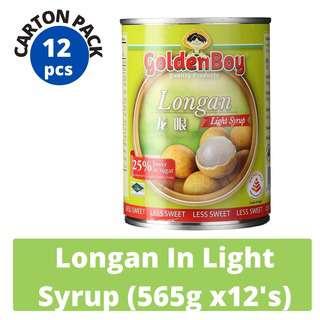 Golden Boy Longan In Light Syrup (Carton Pack)