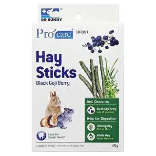 Dr Bunny Procare Hay Sticks Black Goji Berry