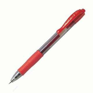Pilot G2 Gel Pen Extra Fine 0.7mm BL-G2-7 Red