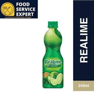 REALEMON ReaLime 100% Lime Bottle Juice