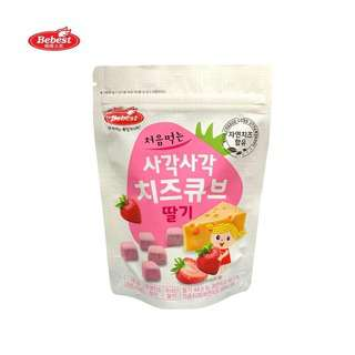 Bebest Baby Snack Freeze - Dried Cheese Cube - Strawberry