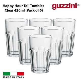 Guzzini HAPPY Tall Tumbler Clear (Set of 6) 420ml
