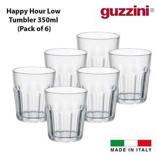 Guzzini HAPPY Low Tumbler Clear (Set of 6) 350ml