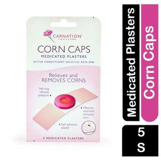 Carnation Corn Caps Medicated Plasters Foot Care Removes Corn