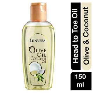 Ginvera Olive Oil with Coconut Oil with Non-Greasy Formula