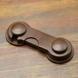 * Dark brown 02 baby cabinet lock