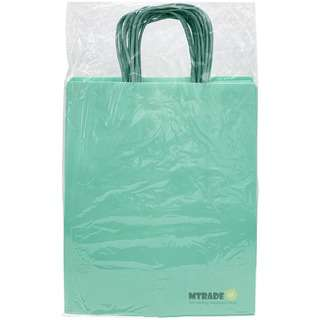 MTRADE Pastel Green Medium Kraft Paper Gift Bag 12pcs/pack