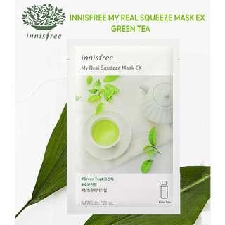 Innisfree My Real Squeeze Mask EX - Green Tea